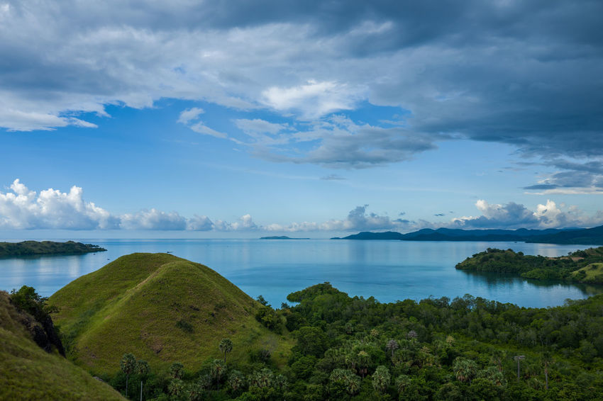 Labuan Bajo View Beauty In Nature Cloud - Sky Day Environment Green Color Idyllic Land Nature No People Non-urban Scene Outdoors Plant Scenics - Nature Sea Sky Tranquil Scene Tranquility Tree Water