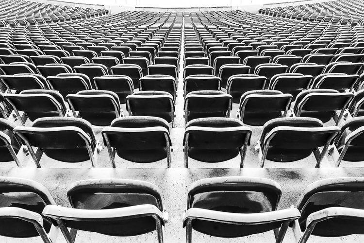 Full frame shot of empty row