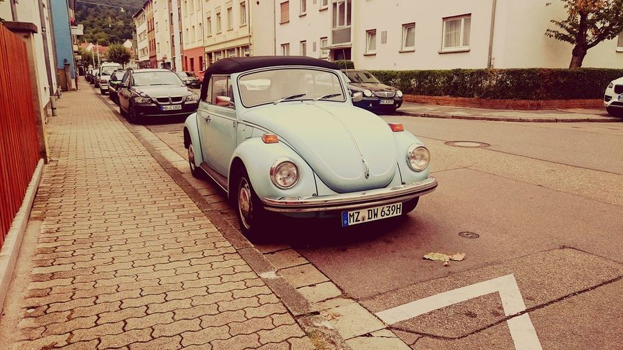 Retro Auto Volkswagen Blau Bluebittle