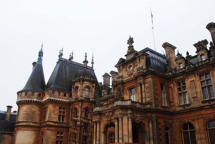 Architecture Building Exterior Built Structure Low Angle View Travel Destinations Clear Sky Religion Sky Place Of Worship Outdoors City Day Spirituality No People French Chateau Château Waddesdon Manor Waddesdon ROTHSCHILD March Grey Day The Architect - 2017 EyeEm Awards