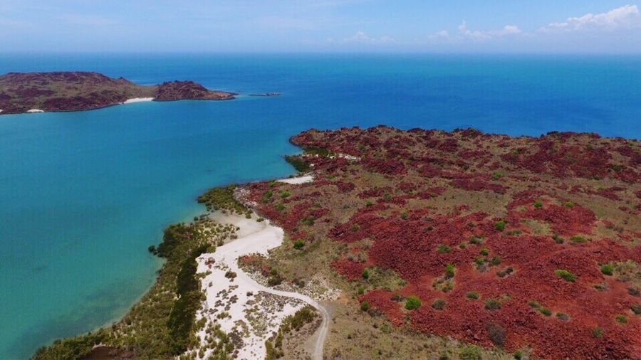 Sea Scenics Beauty In Nature Cliff Water Nature Horizon Over Water Idyllic Tranquil Scene Outdoors Tranquility Coastline Flying High Sky No People Murajuga National Park Dampier Pilbara Western Australia WesternAustralia Australian Landscape Australia Drone  Dronephotography Droneshot