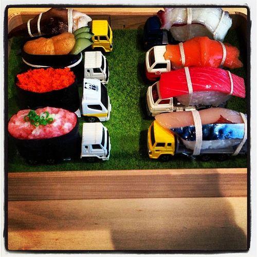 Trucking in the sushi Apt7 Paramodel Goma Art Brisbane