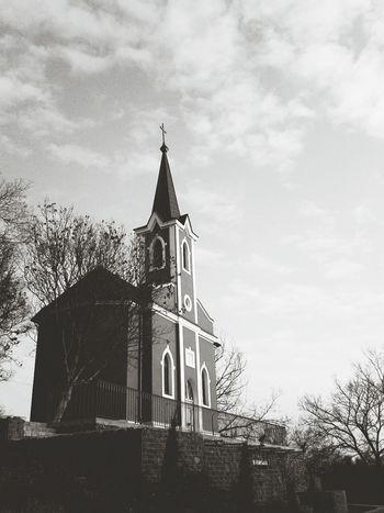 Hello World Church Balatonboglár Black & White Blackandwhite Black And White Photo